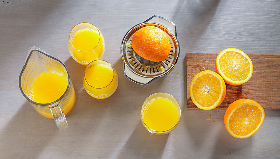 orangensaft selbst gepresst gesund